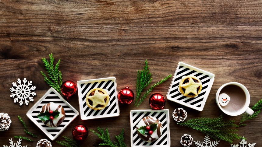 Christmas design space wallpaper